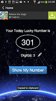 Screenshot of Today Lucky Number