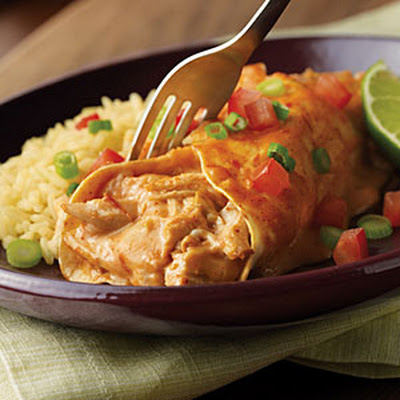 Easy Chicken & Cheese Enchiladas