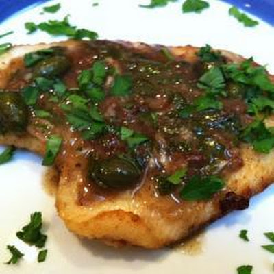 Fillet Of Sole With Lemon Caper Sauce