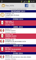 Screenshot of Calendario Feriados Peru