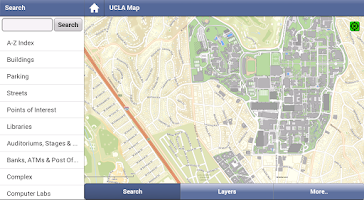 Screenshot of UCLA Campus Map