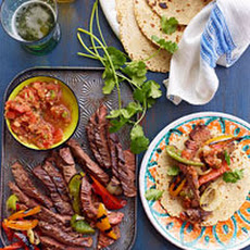 Beer-Mariated Steak Fajitaz