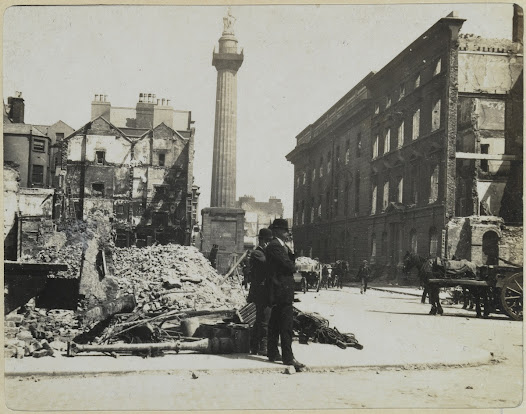 The GPO and Nelson's Pillar from Henry Street