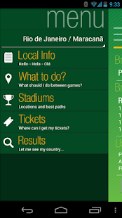 Brazil 2014 tourist guide - screenshot