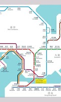 Screenshot of Hong Kong MTR subway map