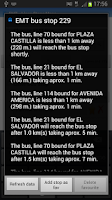 Screenshot of Metro+ (Madrid subway, buses)