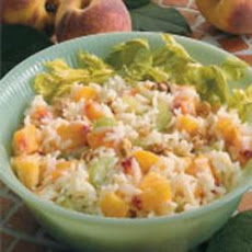 Peachy Rice Salad