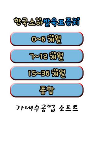 한국소아 발육 표준치 육아 아기 소아