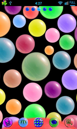 Polka Spheres GoLauncher Theme