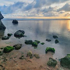Sunset in SUndak Beach by Henry Armijaya - Landscapes Beaches
