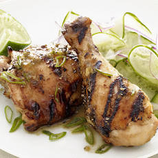 Hoisin Chicken with Cucumber Salad