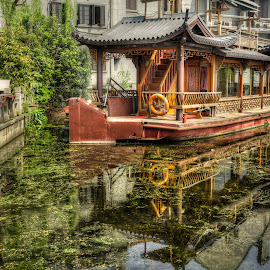 Reflection by Robby Ticknor - Transportation Boats ( reflection, boat, china )