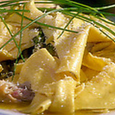 Chicken Confit and Asparagus with Pasta Rags