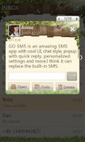 Screenshot of GO SMS Pro Springtime theme