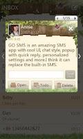 Screenshot of GO SMS Pro Springtime theme