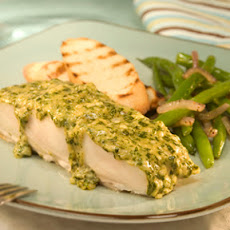 Pesto Topped Halibut