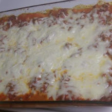 My Sweet Manicotti in Meat Sauce