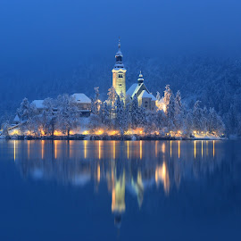 Bled Island In The Evening by Miro Zalokar - Buildings & Architecture Other Exteriors