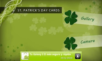 Screenshot of St. Patrick's Day Cards