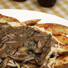 Oven Fries with Mushroom Gravy