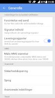 Screenshot of GO SMS Pro Denmark language