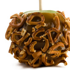 Chocolate Caramel Apples with Salted Pretzels  Recipe