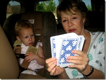 nana with cards