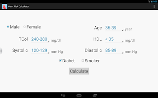 Screenshot of Heart  Risk Calculator