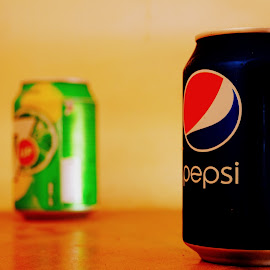 #pepsico by Piravinth Srithar - Food & Drink Alcohol & Drinks ( exposure, 7up, tin, pepsi, light )