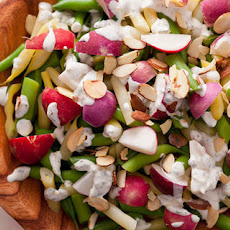 Radish and Wax Bean Salad with Crème Fraîche Dressing Recipe