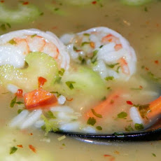 Thai Shrimp & Rice Soup