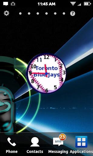Toronto Blue Jays Clock Widget