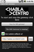 Screenshot of Habla SMS Gateway