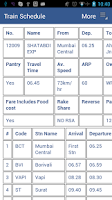 Screenshot of Indian Rail Enquiry