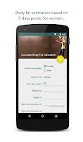 Screenshot of Accurate Body Fat Calculator