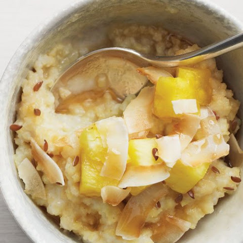 Millet with Pineapple, Coconut, and Flaxseed