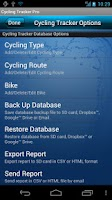 Screenshot of Cycling Tracker Pro