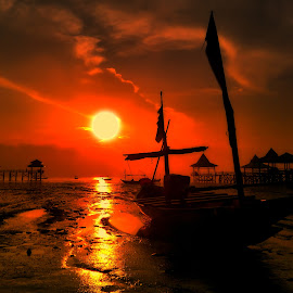 story of sunrise by Ahmadz ' - Instagram & Mobile Other ( landscape*kenjeran*lama*pantai*surabaya )