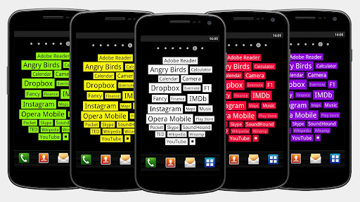Tagy minimalistic text cloud