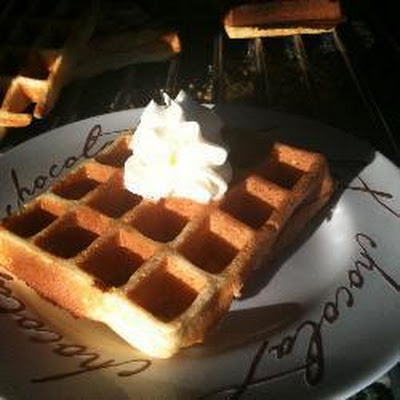 Waffles with Whipped Cream