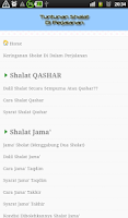 Screenshot of Tuntunan Shalat di Perjalanan