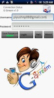 Screenshot of G-Stream Lite-Cloud MP3 Player