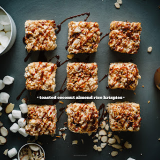 Coconut Almond Rice Krispie Treat
