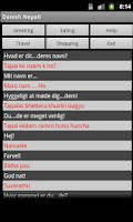 Screenshot of Danish Nepali Dictionary