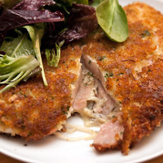 Stuffed Chicken Cutlet With Ham, Cheese, and Sauerkraut