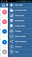 Screenshot of iPro Habit Tracker