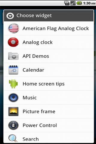 American Flag Clock Widget