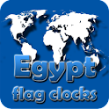 Egypt flag clocks icon