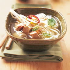 Asian Turkey-Noodle Soup with Ginger and Chiles