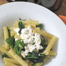 Ziti with Broccoli Rabe, Fresh Goat Cheese and Lemon Oil
